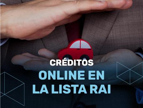 Creditos online en la lista RAI